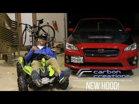 Carbon Creations 2015 WRX Carbon Fiber hood install!