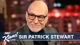 Sir Patrick Stewart Wants Jimmy Kimmel to Save the UK