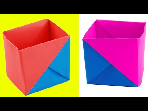 [NO GLUE Paper crafts] How to Make a Strong Box from Paper | Origami | Soam Crafts