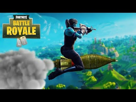 Insane Double Self Rocket Ride ! Homing Missile!     (Fortnite)