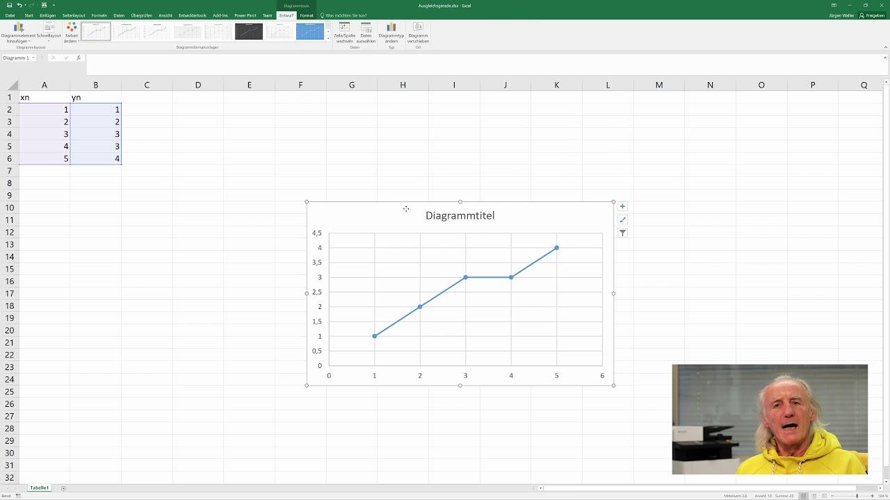 Ausgleichsgerade Excel