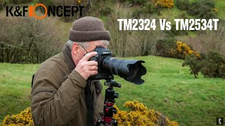 Best-selling K&F Concept® Tripods Comparison TM2324 Vs TM2534T
