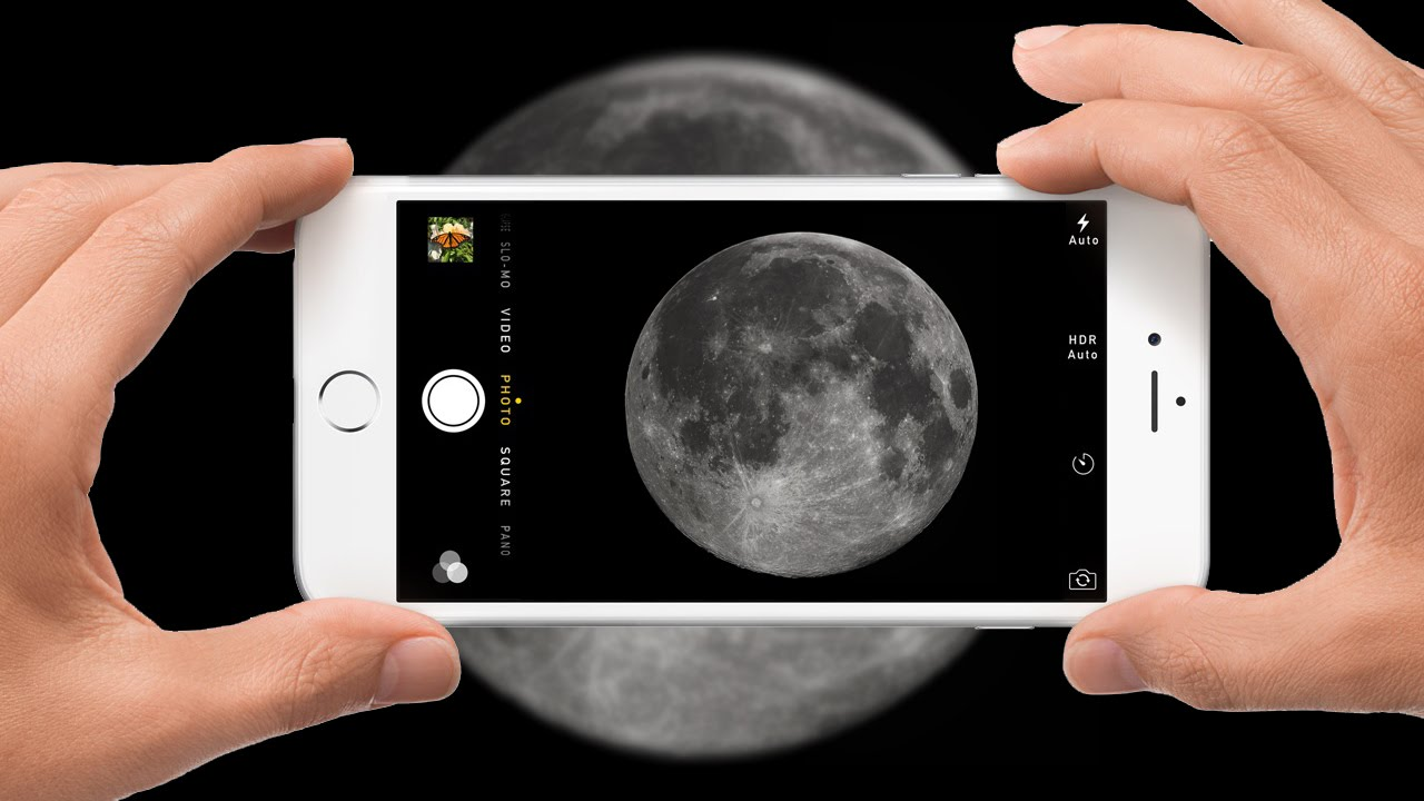 How To Take Pictures Of Moon With An iPhone - YouTube