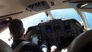 Bahamas Landing in a private jet