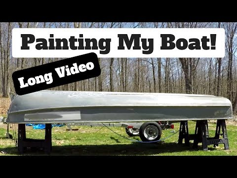 How to Paint an Aluminum Boat - Long Video