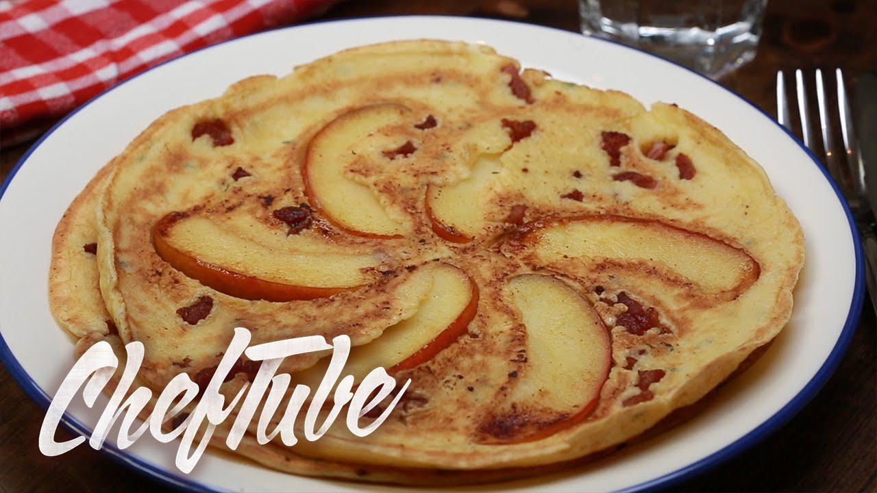 Comment faire des cr pes la pomme au thym et au lard recette dans la description youtube - Comment faire de crepe ...