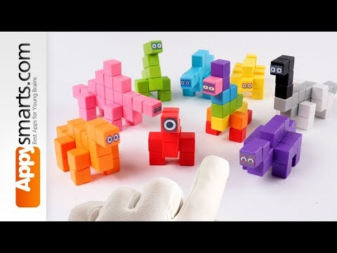 Can You Guess All Our Magnetic Numberblock Dinos? DIY Crafts Projects for Kids with Magnetic Cubes