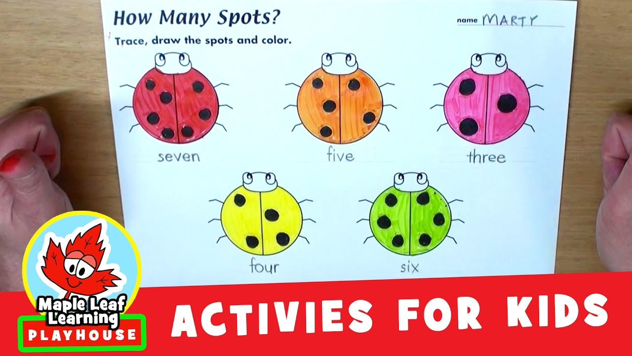 Ladybugs Counting Activity For Kids Maple Leaf Learning Playhouse