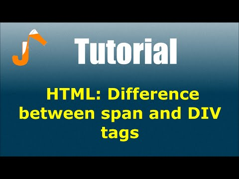 HTML: Difference Between Span And DIV Tags