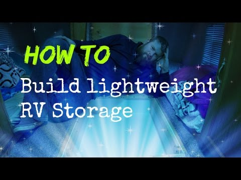 How to build a lightweight RV storage compartment