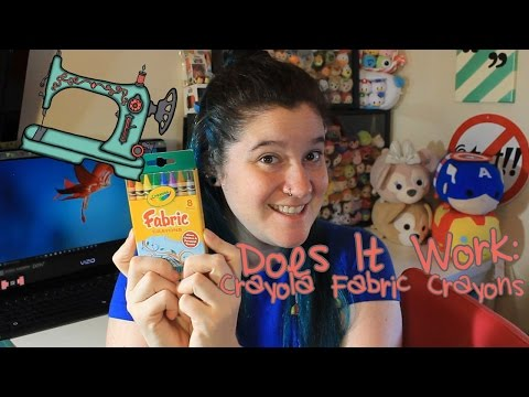 Does It Work | Crayola Fabric Crayons