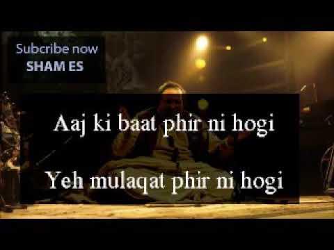 Dekho acha nahi hai tumhara chalan Nusrat...