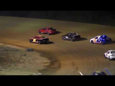 Dog Hollow Speedway - 10/7/17 Four Cylinder Rollover in Turn 4