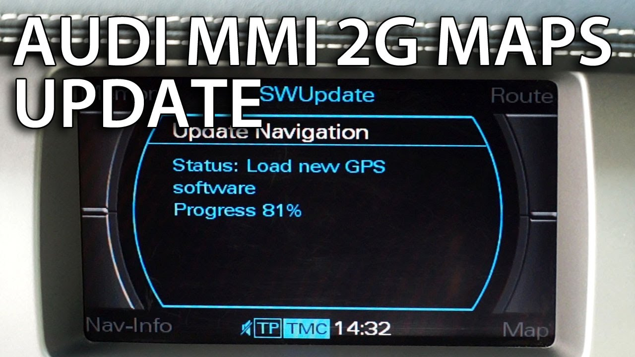 Audi Map Update How to update Audi MMI 2G maps (GPS navigation A4 A5 A6 A8 Q7) 4E0