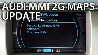 How to update Audi MMI 2G maps (GPS navigation A4 A5 A6 A8 Q7) 4E0 060 884 DT Navteq