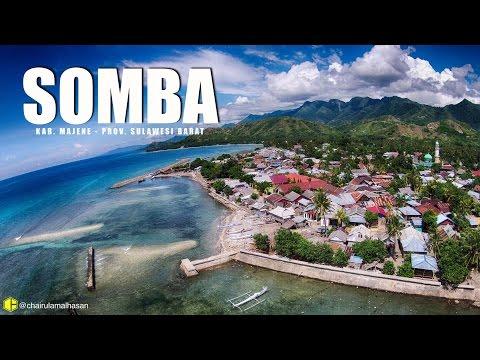 Aerial Video : SOMBA, MAJENE - SULAWESI BARAT (Tempat Pembuatan Perahu MANDAR)