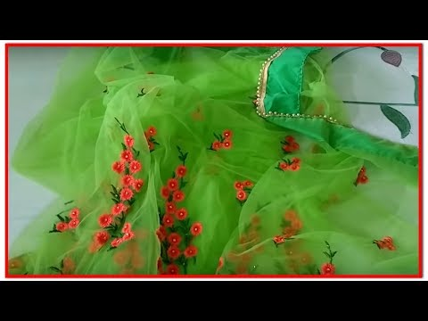 Embroidery Net Saree From Amazon || Pretty Color || NEt Saree | Awesome Cute