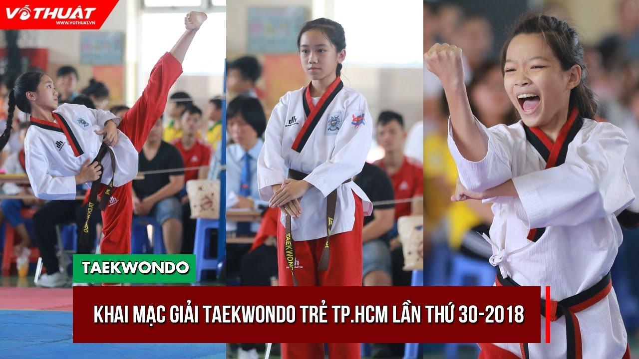 Giải Taekwondo trẻ TP.HCM 2018 thu hút hơn 900 VĐV tranh tài
