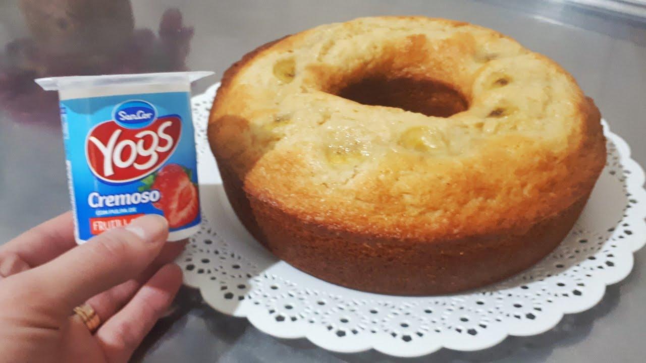 Hago el famoso bizcochuelo todo con 1 pote de yogurt. Resultado sorprendente