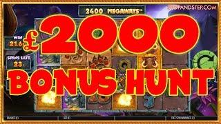 MASSIVE £2000 BONUS HUNT