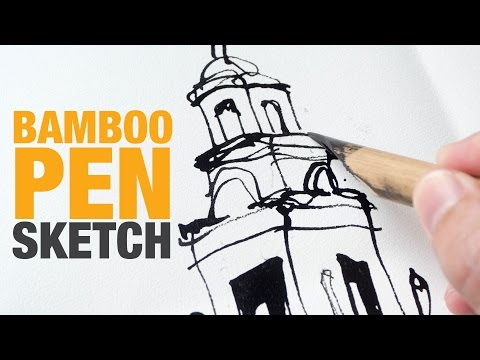 Found a Cheap Bamboo Pen to Draw With