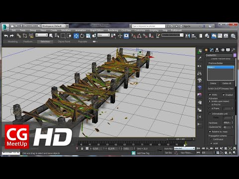 "CGI 3D Tutorial HD ""3Ds Max Tutorial Destroying a wooden Pier with Pulldownit"" by Esteban Cuesta"