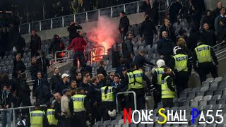 Fans from Djurgården try to take back stolen banner by AIK