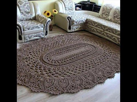 Alfombra bajada de cama tejida en crochet youtube for Precio de las alfombras persas