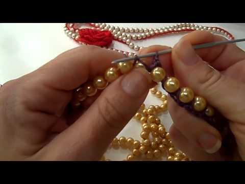 Tutorialcollana perle e crochet  YouTube