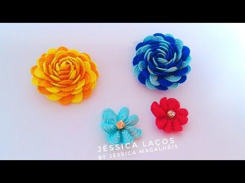 DIY Rosinha de Sianinha - Flor fácil -...