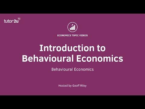 Behavioural Economics - Introduction