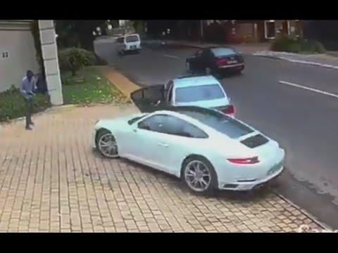 Querían robarle su Porsche y así fue su reacción
