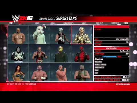 WWE 2k16 Community Creations Tutorial Help