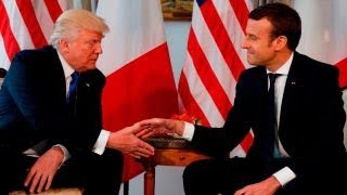 France's Macron meeting with Trump