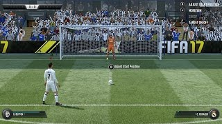 FIFA 17 - Real Madrid Penalty Shootout Gameplay (New Penalties)