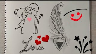 How to Draw LOVE LETTER Beautiful drawing step by step || I LOVE YOU drawing ||