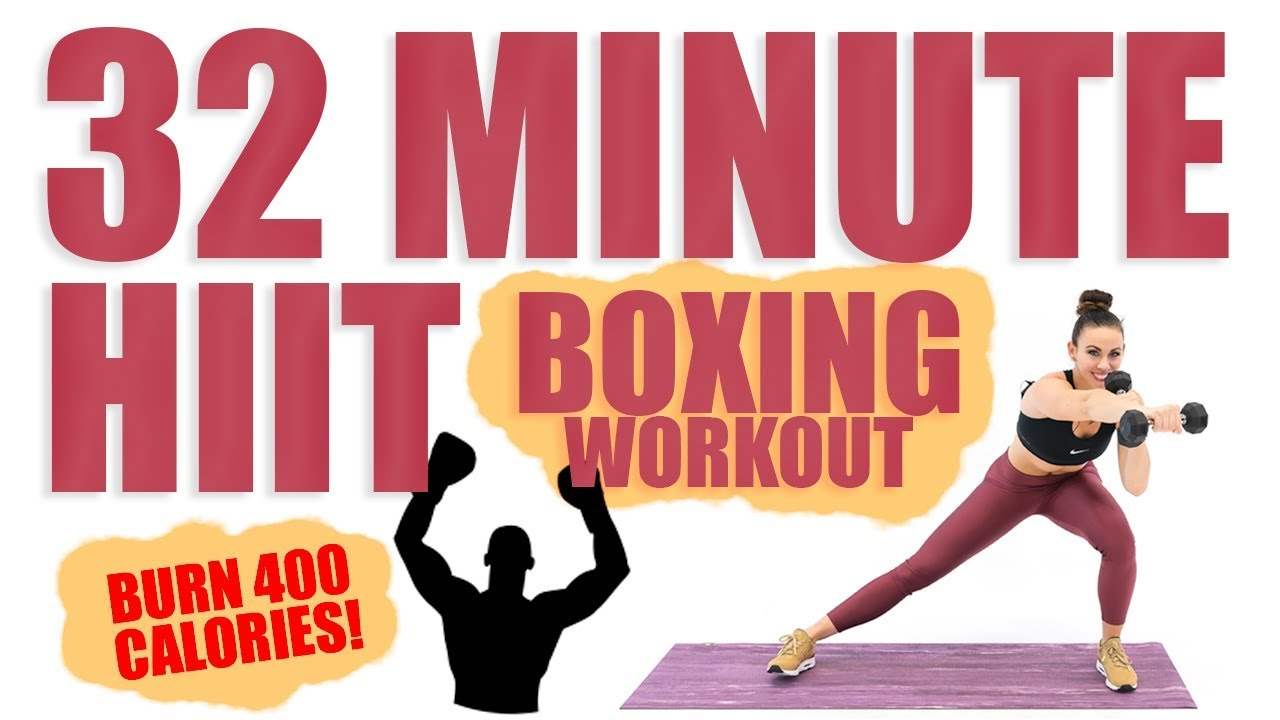 32 Minute HIIT Boxing Workout 🔥Burn 400 Calories! 🔥
