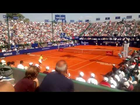 Dominic Thiem vs Rafael Nadal Argentina Open 2016 SF Court Level View HD