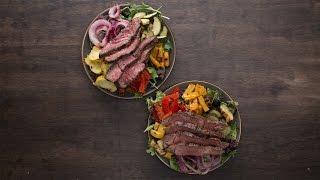 Grilled Veggie & Steak Salad