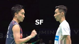 Lee Chong Wei vs Kento Momota Badminton Asia Championships 2018 Semi Final