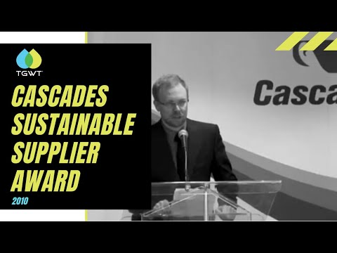 Sustainable Supplier Award awarded by Cascades to TGWT in 2010