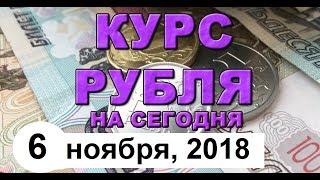 Смотреть видео Курс доллара на сегодня, курс рубля на сегодня (обзор от 6 ноября 2018 года) онлайн