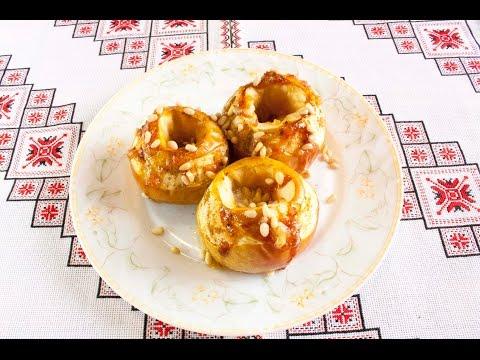 Печеные яблоки с медом в духовке Яблоки печеные с корицей и медом Печені яблука рецепт з медом
