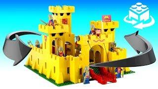 Lego 6075 / 375 Vintage Legoland Yellow Castle 1981 Speed Build Review