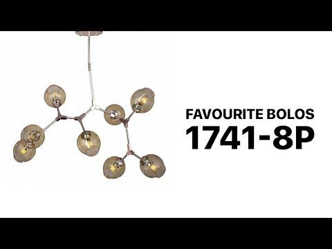 Люстра на штанге Favourite Bolos 1741-8P светлое золото