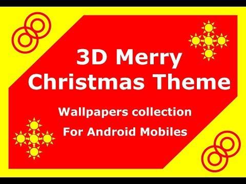 3d Merry Christmas Theme 2018 Christmas Live Wallpapers For