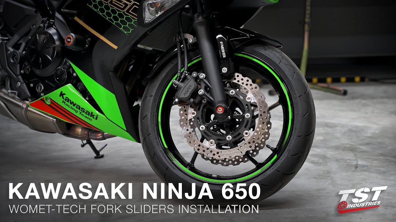 Ayouyue Motorcycle CNC Aluminum Front Rear Axle Fork Wheel Crash Protector Slider Cap Pads for 2015-2017 Kawasaki VN650 EN650 VN Vulcan S 650 2016 Black