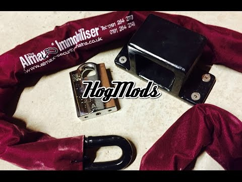HogMods - How to Install a Ground Anchor + Almax Immobiliser 19mm Chain + Abloy 362 Padlock