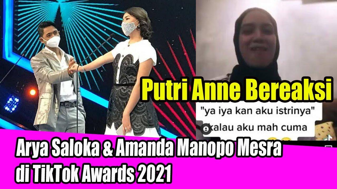 Postingan Putri Anne Disorot Arya Saloka Amanda Manopo M3sr4 Di Tiktok Awards 2021 Youtube