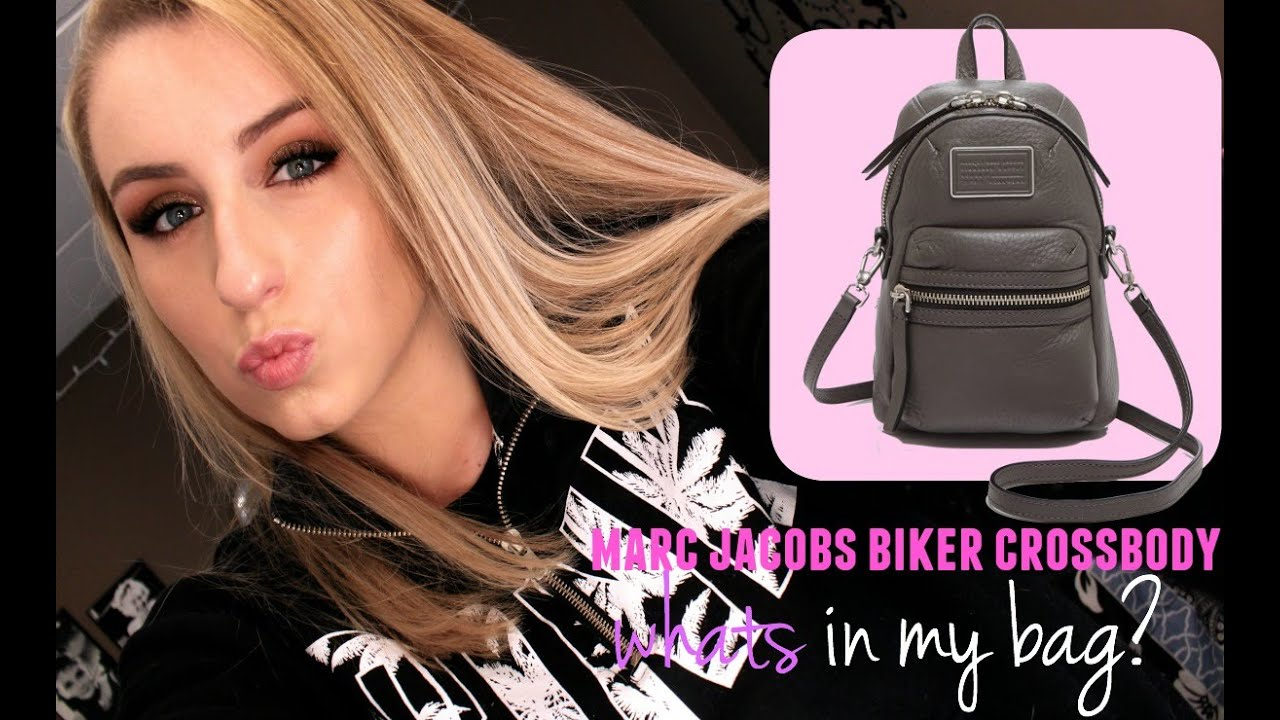 5a39bdca04a6 Whats in my Bag  Marc Jacobs Domo Biker Backpack - YouTube